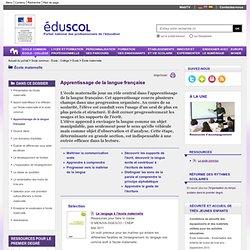 Domaines d'activités - Apprentissage de la langue française