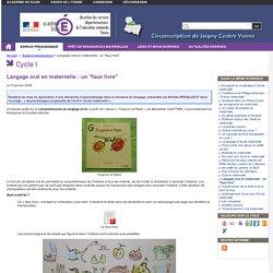 """Langage oral en maternelle : un """"faux livre"""" - Circonscription de Joigny Centre Yonne"""