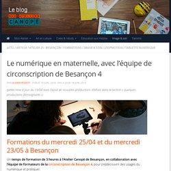 Le numérique en maternelle, avec l'équipe de circonscription de Besançon 4 -