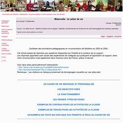 Maternelle : le cahier de vie - maternelle, cycle 1, cahier de vie, communication, famille