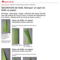 Decoration noel pearltrees - Fabriquer un sapin de noel en papier ...