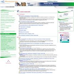 L'école maternelle - Pédagogie - Direction des services départementaux de l'éducation nationale du 17