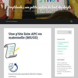 Une p'tite liste APC en maternelle (MS/GS)
