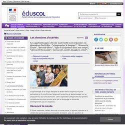 École maternelle - Les domaines d'activités