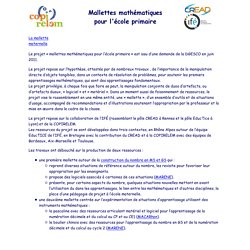 Mallette maternelle : introduction