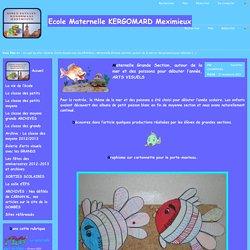 Ecole Maternelle KERGOMARD Meximieux - Maternelle Grande Section, autour de la mer et des poissons pour débuter l'année, ARTS VISUELS