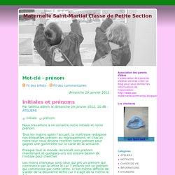 Mot-clé - prénom - Maternelle Saint-Martial Classe de Petite Section