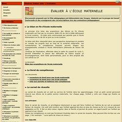 le site Maternelle 88 - Evaluer, aider - L'évaluation