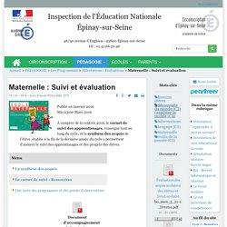 Maternelle : Suivi et évaluation