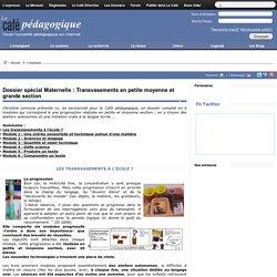 Dossier spécial Maternelle : Transvasements en petite moyenne et grande section