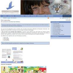 Kits maternelles - Fondation A. et P. Sommer - Médiation animale et relation Homme - Animal