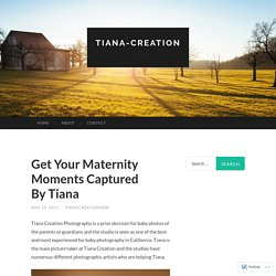 Get Your Maternity Moments Captured By Tiana