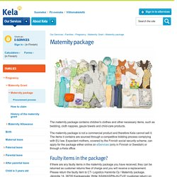 Maternity package - kela.fi