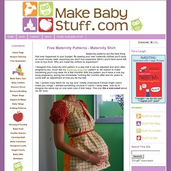 Free Maternity Patterns: Maternity Shirt Pattern