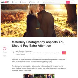 Maternity Photography Aspects You Should Pay Extra Attention