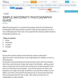SIMPLE MATERNITY PHOTOGRAPHY GUIDE