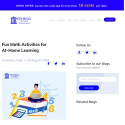 Fun Math Activities for At-Home Learning -