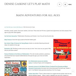 Denise Gaskins' Let's Play Math