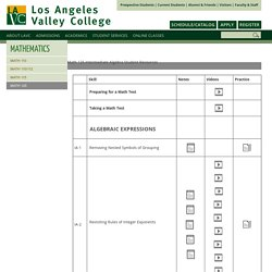 Math 125: Los Angeles Valley College