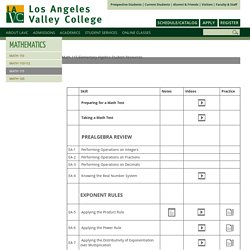 Math 115: Los Angeles Valley College