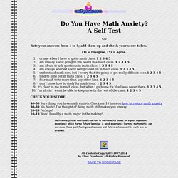 Math Anxiety Test