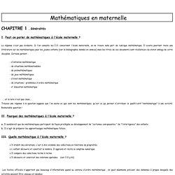 Math au cycle 1