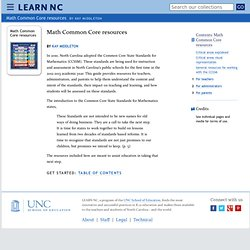 Math Common Core resources -