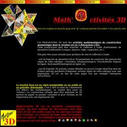 Math'@ctivités 3D