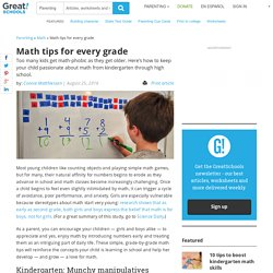 Math tips for every grade