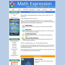 Math Expression: Free Math Tutor Online
