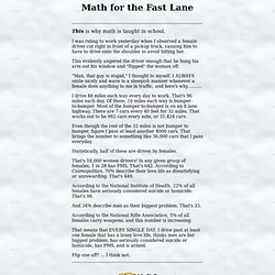 Math for the Fast Lane