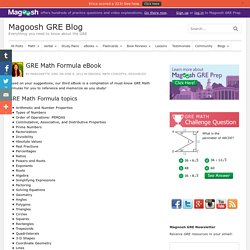 GRE Math Formula eBook
