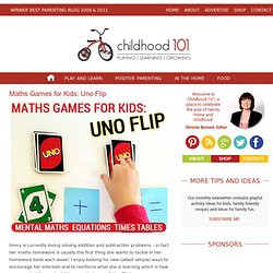 Math Games for Kids: Uno Flip