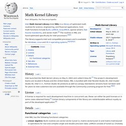 Math Kernel Library - Wikipedia