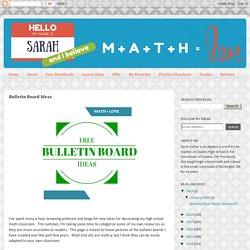 Math = Love: Bulletin Board Ideas