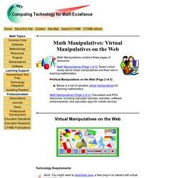 Math Manipulatives: Virtual Manipulatives on the Web