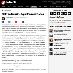 Math and Music – Equations and Ratios