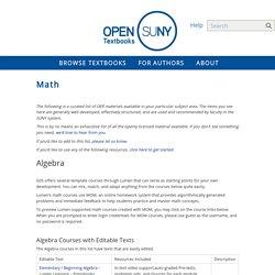Math - Open SUNY Textbooks