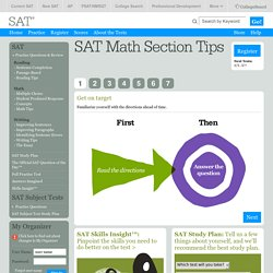 SAT Math Tips - Math SAT Preparation Resources
