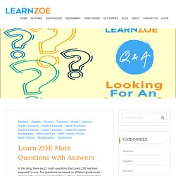 Math Questions with Answers