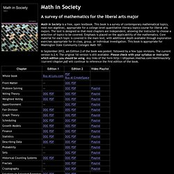Math in Society