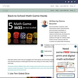 Fly on the Math Teacher's Wall: Back to School Math Game Hacks