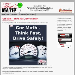 Car Math – Think Fast, Drive Safely!
