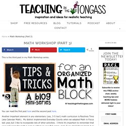 Math Workshop (Part 3) - Teaching in the Tongass