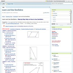 Math247 / Learn and Use GeoGebra