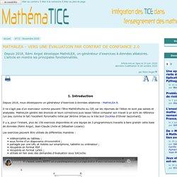 MathALEA - Vers une évaluation par contrat de confiance 2.0
