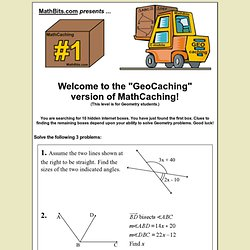 MathCaching GeoCaching Box #1
