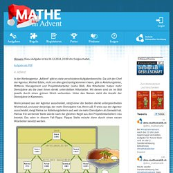 Mathe im Advent 2014 - die Mathekalender der DMV