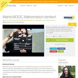Mathe-MOOC: Mathematisch denken!
