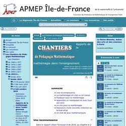 Apports de la mathémagie dans l'enseignement - [APMEP Île-de-France]